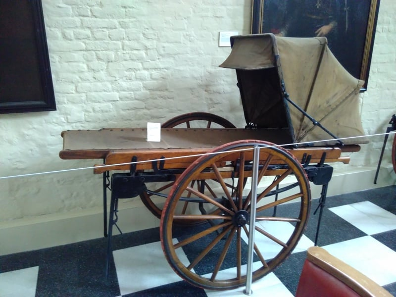 Early wheeled stretcher